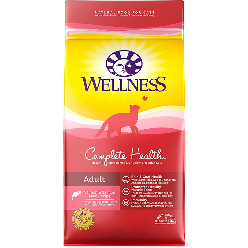 Wellness® Complete Health®  Salmon, Salmon Meal & Deboned Turkey Recipe Cat Food 74844B