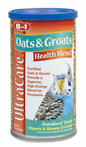 Parakeet Oats & Groats Food 8 oz. Canister 75507