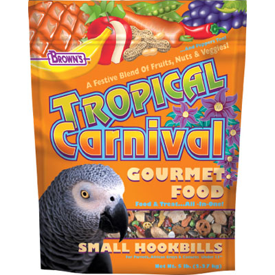Tropical Carnival Gourmet Food for Small Hookbills 5 lbs.