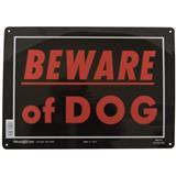 Beware of Dog Sign Aluminum 10 in. x 14 in. 848665