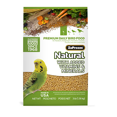 ZuPreem AvianMaintenance Natural Diet 2.25 lb Parakeet 88682