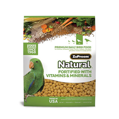 ZuPreem AvianMaintenance Natural Diet 3 lb Parrot/Conure 88684