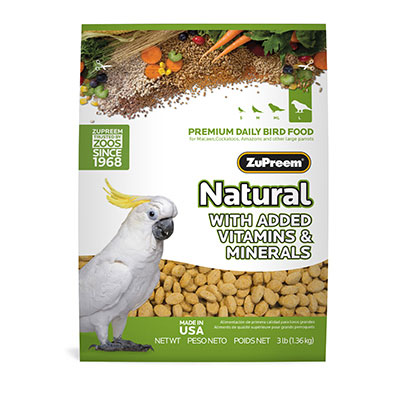 ZuPreem AvianMaintenance Natural Diet 3 lb Large Parrot 88685