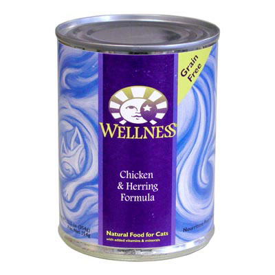 Wellness Chicken and Herring Canned Cat Food 908942b