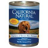 California Natural Chicken & Brown Rice Adult  Dog Food 13.2 oz. 9111279