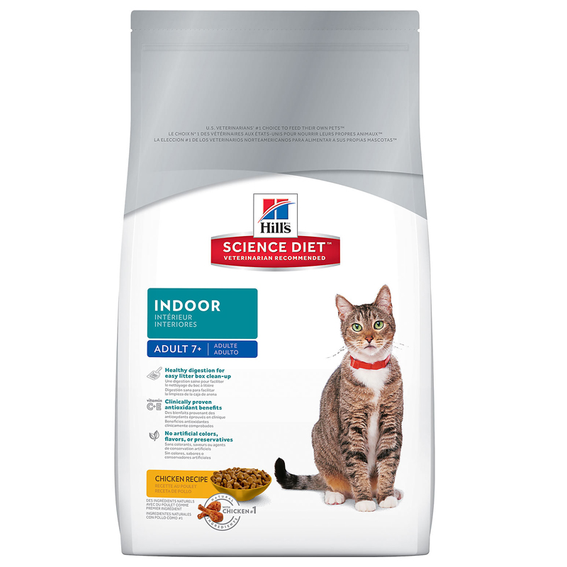 Hills® Science Diet® Indoor Mature Adult Cat Food 3.5 lbs. 92316