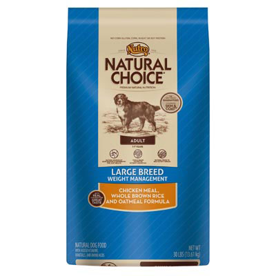 Nutro® Natural Choice® Large Breed Weight Management Adult Chicken Meal, Whole Brown Rice & Oatmeal Formula 92509B