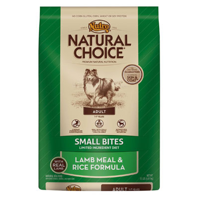 Nutro® Natural Choice® Limited Ingrediet Diet Small Bites Adult Lamb Meal & Rice Formula 96953b