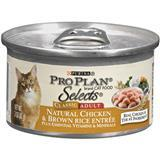 Purina® Pro Plan® Selects® Natural Chicken and Brown Rice Entrée for Adult Cats 3 oz. 98564