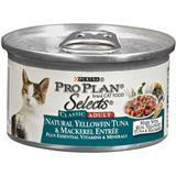 Purina® Pro Plan® Selects® Natural Yellowfin Tuna and Mackerel Entrée for Adult Cats 3 oz. 98567