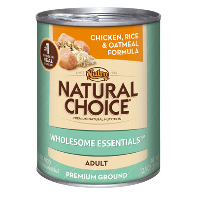 Nutro Natural Choice Chicken, Rice, and Oatmeal Formula for Adult Dog Case of 12 - 12.5oz Cans 999922