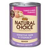 Nutro® Natural Choice® Sensitive Skin and Stomach Senior Turkey & Rice Formula 12.5 oz. 99923