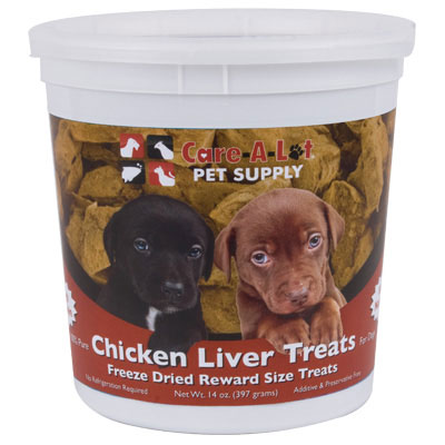 Care-A-Lot® Freeze Dried Liver Treats 14 oz. Chicken 120262