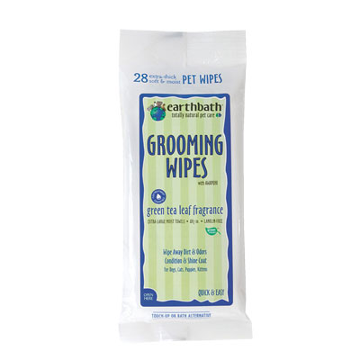 earthbath® Grooming Wipes for Dogs Green Tea 132811b