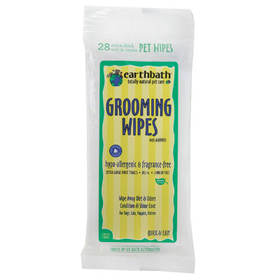 earthbath® Grooming Wipes for Dogs Hypo-Allergenic And Fragrance Free 132812b