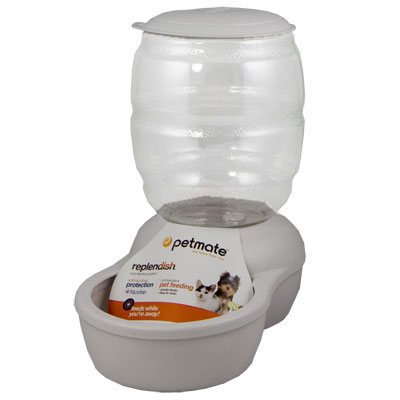 Petmate® Replendish™ Pearl White Feeders and Waterers 147401b