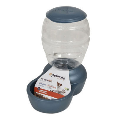 Petmate® Replendish™ Pearl Peacock Blue Feeders and Waterers 147403b