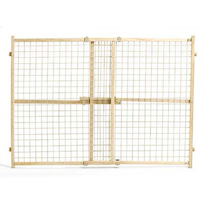 MidWest® Wood/Wire Mesh Pressure Pet Gates 14984b