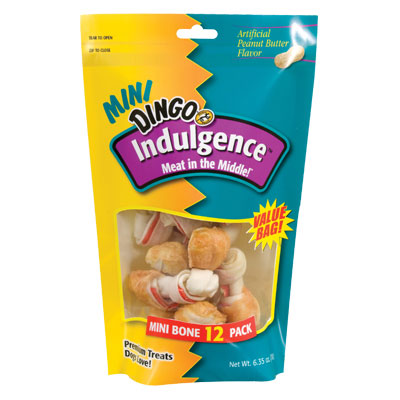 Dingo Indulgence Mini Peanut Butter 12pk Value 267151