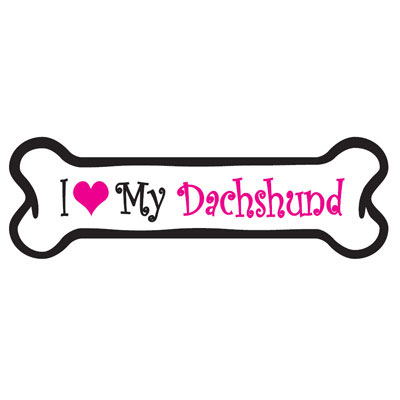 Dog Bone Magnet in Pink Dachshund 29050225