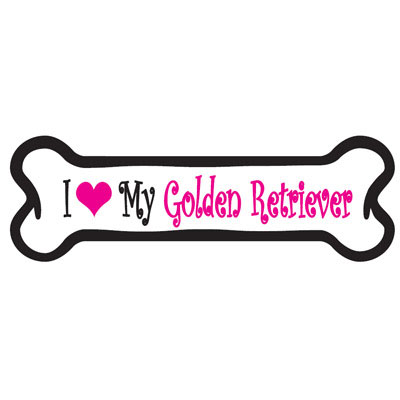 Dog Bone Magnet in Pink Golden Retriever 29050285