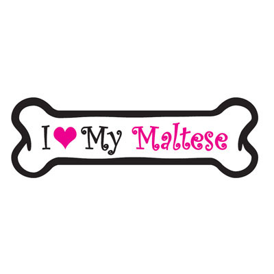 Dog Bone Magnet in Pink Maltese 29050365