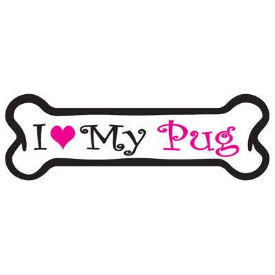 Dog Bone Magnet in Pink Pug 29050445