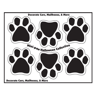Mini Paw Magnets Set of 6 Black 290541