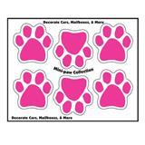 Mini Paw Magnets Set of 6 Pink 290542