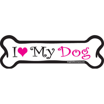 Dog Bone Magnet in Pink Dog 29070