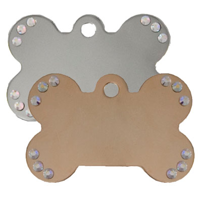 Bone Shaped Diva Pet Tags