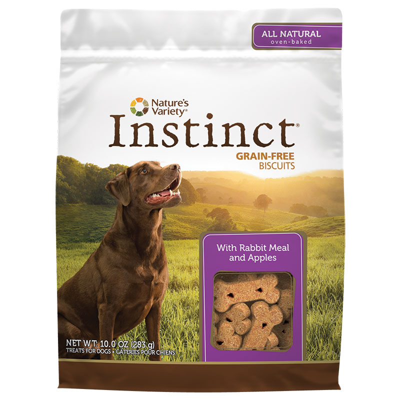 Nature's Variety® Instinct® Grain-Free Biscuit Treats Rabbit 10 oz.  60573