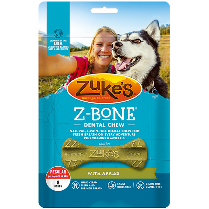 Zuke's® Z-Bones™ Natural Edible Dental Chews Clean Apple 968201b