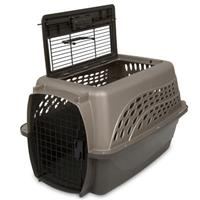 "Petmate 2-Door Kennel Metallic Pearl Tan/Coffee Grounds 24"" 10879"