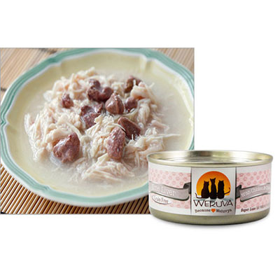 WERUVA Nine Liver with Chicken and Chicken Liver in Gravy Canned Cat Food 111511b