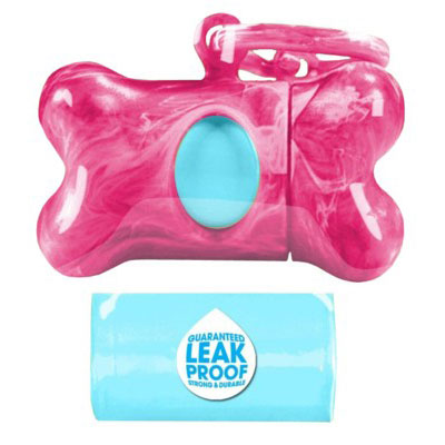 Bags on Board® Marble Bone Dispensers Pink 197111