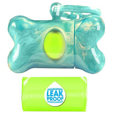 Bags on Board® Marble Bone Dispensers Turquoise 197112