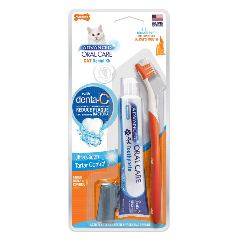 Nylabone® Advanced Oral Care™ Dental Kit for Cats 408878