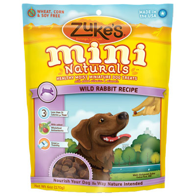 Zuke's® Mini Naturals™ Healthy Moist Dog Treats Rabbit 482814b