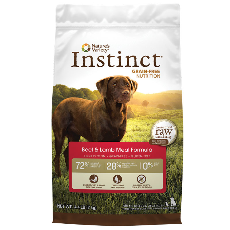 Nature's Variety Instinct Grain-Free Beef Meal & Lamb Meal Formula Dry Dog Food 60586