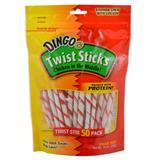 Dingo Twist Sticks Dog Treats 50 Count 6243