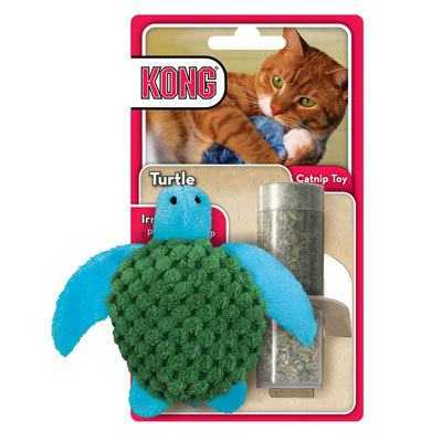 Kong® Turtle Refillable Cat Toy 711615