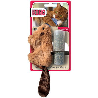 KONG® Refillable Catnip Beaver Cat toy 711661