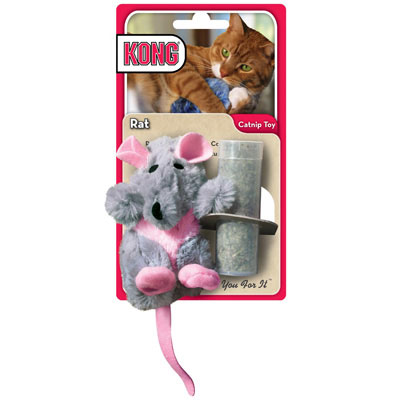 KONG® Refillable Catnip Rat Cat toy 711664