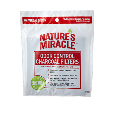 Nature's Miracle 2Pk Litterbox Charcoal Filter 75917