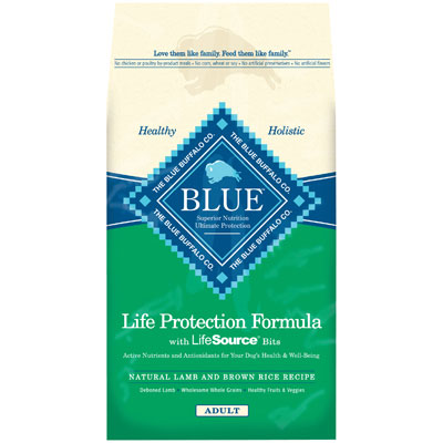 Blue Buffalo Lamb & Brown Rice Recipe for Adult Dogs 30 lbs. 7820635