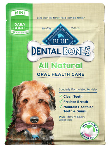 Blue Buffalo BLUE Bones™ Natural Dental Chew Bones Dogs, 12 oz. 7820687b