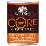 Wellness® Core Grain Free Turkey, Chicken Liver & Turkey Liver Formula Canned Dog Food 908868b