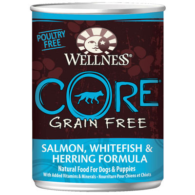 Wellness® Core Grain Free Salmon, Whitefish & Herring Formula Canned Dog Food 12.5 oz. 908871