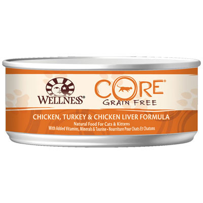 Wellness® Core Grain Free Chicken, Turkey & Chicken Liver Formula Canned Cat Food 5.5 oz. 908872